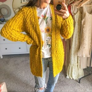 Forever 21 Contemporary YELLOW Cardigan